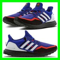 Adidas Ultraboost Mens Trainers UK 9 / EU 43.3 / US 9.5 Black Blue Red Sneakers