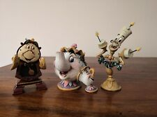 DISNEY Traditions Beauty & The Beast Hanging Christmas Ornaments Potts Lumiere