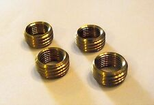 "Lot of 4 Solid Brass Reducer Lamp Part 1/8"" Female 1/4"" Male Insert No Head (R1)"