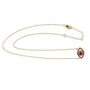 Gift For Mom 1.33ct Natural Ruby Chain Necklace 14k Yellow Gold Jewelry