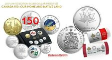 2017 Canada 150 Silver Dollar Proof Set & 2 x 50-CENT SPECIAL WRAP ROLLS - SALE