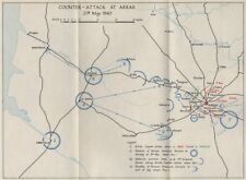 FALL OF FRANCE 1940. Counter attack at Arras 21 May. Troop positions 1953 map