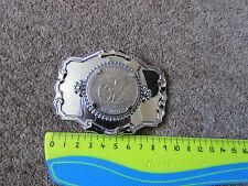 Stati UNITI D'AMERICA DOLLARO MONETA Shiny ONE Metallo Fibbia della Cintura vedi foto