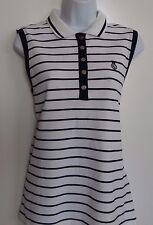 Ralph Lauren Sport Women's 100% Cotton White Navy Sleeveless Top Shirt Size: L