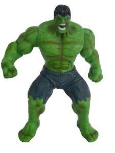 "Incredible Hulk Smash N Stomp 12"" Talking Figure Hasbro Marvel 2008 Eyes Light"