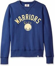 NEW $65 '47 Brand NBA Golden State Warriors Cross-Check Crew Pullover Sweatshirt