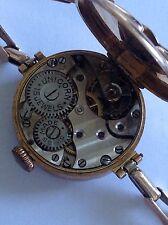 Antique Ladies 9ct Rose Gold UNICORN ROLEX WATCH CO Bracelet Wristwatch