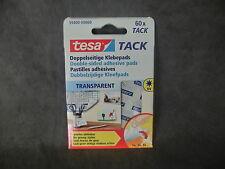 1 Pack = 60 St. tesa TACK 59400 / Doppelseitige Klebepads, transparent (BR)