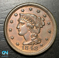 1848 Braided Hair Large Cent --  MAKE US AN OFFER!  #B6000