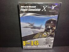 Flight Simulator X F-16 Fighting Falcon Add On For Microsoft PC NEW B331