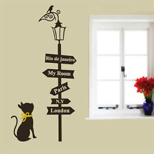 Creative Road Sign London Paris New York Rio de Janeiro Wall Sticker Home Decor