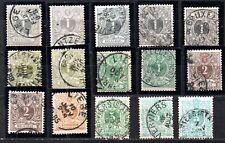 BELGIQUE - lot de timbres anciens - lire la description