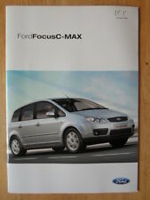 FORD FOCUS C-MAX 2003-04 UK Mkt sales brochure - Studio LX Zetec Ghia