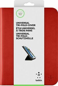 Belkin iPad 3 2 1 Tri-Fold Folio Universal Cover Case & Stand - RED FreeDelivery