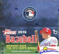 2019 Topps Heritage Baseball MASSIVE Factory Sealed 24 Pack Retail Box-216 Cards