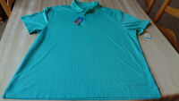 NEW Haggar Polo Shirt MENS - XLARGE -  GREEN -  Outdoors Golfer Rugby Mens