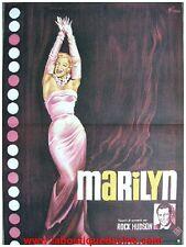 MARILYN MONROE Affiche Cinéma ORIGINALE / Movie Poster DOCUMENTAIRE ROCK HUDSON
