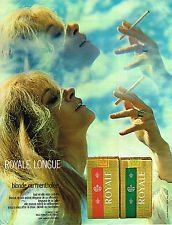 PUBLICITE  1970   ROYALE  cigarette longue