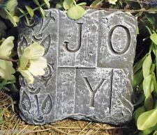 plastic mold concrete plaster Joy plaque mould