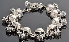 Twilight Vampire Skull Gents Stainless Steel Bracelet Gothic Corpse Freak Blood