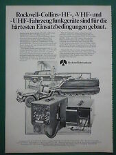 6/1978 PUB ROCKWELL COLLINS RADIO HF VHF UHF GERATE VC-114 ARMY GERMAN AD