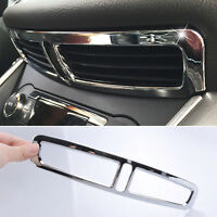 FIT FOR 13-16 FORD KUGA CHROME FRONT DASHBOARD AIR VENT COVER TRIM BEZEL OUTLET