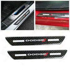 2PCS Carbon Fiber Car Door Scuff Sill Cover Panel Step Protector For Dodge New