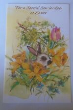 For a Special Son-in-Law at Easter Card with Envelope Rabbit