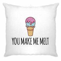 Valentine's Day Cushion Cover You Make Me Melt Pun Joke Cute Couples Slogan