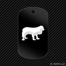 Cavalier King Charles Keychain GI dog tag engraved many colors  dog canine pet