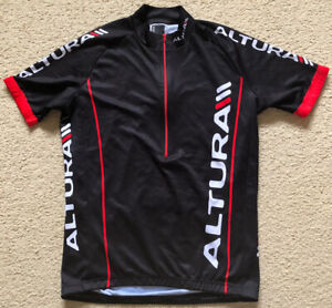 088 Authentic Altura Cycling Jersey Gel Gripper Black Mens Size S Small VGC