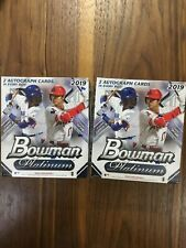 (2) 2019 Bowman Platinum Monster Mega Boxes , (4) Autographs Guaranteed!