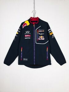 Pepe Jeans Red Bull Infinity Racing Team Blue Soft Shell Jacket Mens Size S