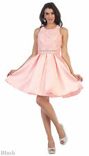 CLASSY SHORT GRADUATION SWEET 16 PROM HOMECOMING BRIDESMAIDS SEMI FORMAL DRESS