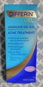 Differin Adapalene Gel 0.1% Acne Treatment, 1.6 oz exp:11/2021