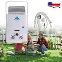 1.6 GPM Instant Portable Propane LP Gas Tankless Hot Water Heater RV Outdoor 6L