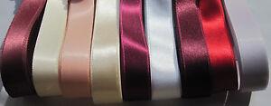2 m Satinband 0,50/m Schleifenband 15-16 mm Breite Doppelsatin Dekoband Hochzeit