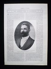 ALFRED DEAKIN AUSTRALIAN PRIME MINISTER FEDERATION AUSTRALIA PHOTO ARTICLE 1903