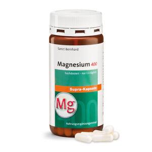 Magnesium 400mg-supra Kapseln | hochdosiert | Muskeln | 120 Stück Sanct Bernhard