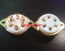 1Pc 6pin Gold plated U6A ceramic Vacuum tube socket for 310 366 Vt57 Vt58