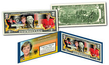 ANGELA MERKEL World's Most Powerful Person Germany Official U.S. Genuine $2 Bill