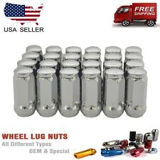 Buyer Needs to Review The spec 20pcs 2.32 Chrome 14mm X 1.50 Wheel Lug Nuts fit 2014 Chevrolet Silverado 3500 HD May Fit OEM Rims