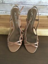 Aldo Women Strappy Open Toe High Heels Stilettos Sandals Shoes 7