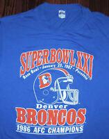 T Shirt Vintage 80s Denver Broncos Super Bowl XXI 1987 Single Stitch Fits S / M