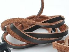 1yard brown color genuine leather cord 2X3MM