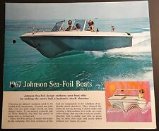 VINTAGE 1967 JOHNSON SEA-FOIL BOATS SALES BROCHURE 4 1/2 PAGES   (646)