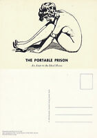 BIZARRE MAGAZINE ILLUSTRATION FROM NUMBER 8 1952 ADVERTISING POSTCARD