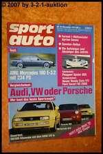 Sport Auto 12/91 Audi S2 Porsche 968 AMG 190 E 3.2