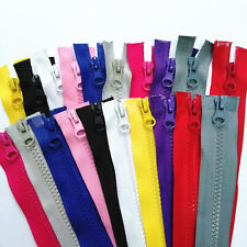 3-20pcs 5#resin Double zipper head zipper (35.5 inch) 90CM for clothing or bags@