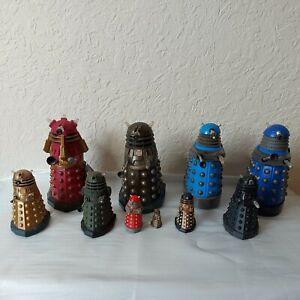 Doctor Who Dalek Figures Joblot Bundle of 10 See Description for individual info